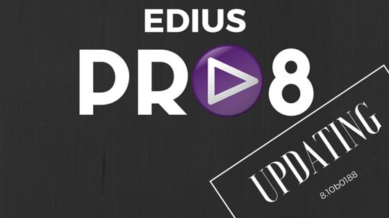 Edius Pro 8'e ilk güncelleme geldi